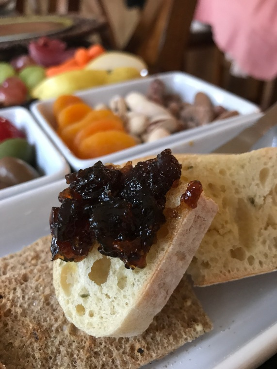 rosemary olive oil bread with balsamic onion jam