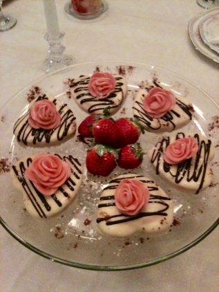 White Chocolate Covered Chocolate Heart Cakes
