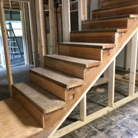 Stairs, after re-build and move