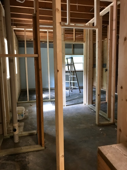 Framing out the basement