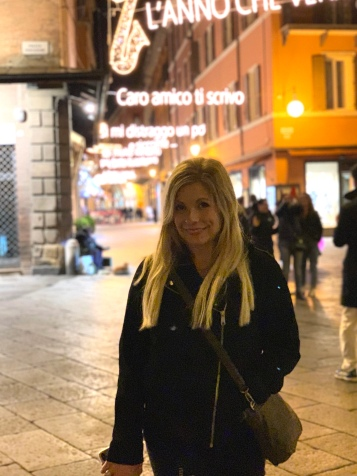 After dinner shopping in Bologna