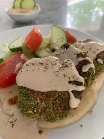 Falafel with Lemon Tahini Dressing and Za'atar seasoning